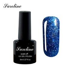 Wholesale Diamond Glitter Nail Art - Wholesale- Saroline Super Star 3D Diamond Glitter Long Lasting soak off Gel Nail Polish Soak Off UV LED bluesky Bling Nail Art Gel Polish