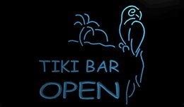 Wholesale Tiki Bar Sign Lighted - LS1124-b-OPEN-Tiki-Bar-NEW-Displays-Pub-Neon-Light-Signs Decor Free Shipping Dropshipping Wholesale 6 colors to choose