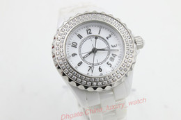 Wholesale Women Mechanical Watch Sale - Luxury aaa Brand Watches Special Sale Quartz Watch Women Diamond Case White Dial Ceamic Band Female Clock Montre Homme