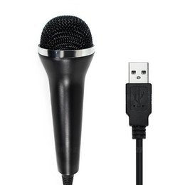 Wholesale Universal USB con cable Microphone Controller MIC para PS4 PS3 Playstatioin Xbox One Wii Consola PC Computer Singing Game