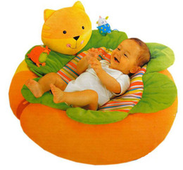 Wholesale Cosy Baby Seat - Wholesale- Free Shipping Promotion 1 Unit of Yellow Cat Blossom Farm Sit Me Up Cosy Inflatable Baby Soft Sofa Seat Baby Play Mats