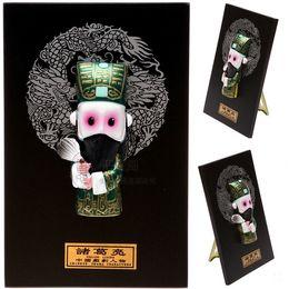 Wholesale Business Meeting Gifts - Peking Opera Zhu Geliang three people quintessence business meeting gift handicraft ornaments Home Furnishing clay figurine