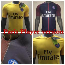 Wholesale Soccer Jerseys Paris - Thai quality Player Version jerseys 2017 2018France Paris Soccer jerseys Di Maria Matuidi Silva Ben Arfa Cavani Germain jersey shirt camise