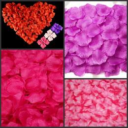 Simulação de Pano de seda Pétalas De Rosa Artificial Exibição Rose Flor Pétalas Deixa Decorações De Casamento Festa Festival Decoração de Mesa de