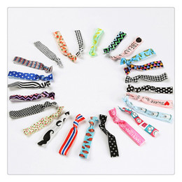 Wholesale Elastic Hair Tie Fold - High Quality Hair Rubber Tie Knotted Hair Bands Tie Fold Over Elastic Hair Tie Gilrs Ponytail Holder Assorted Styles Free Shipping