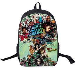 Wholesale Joker Style For Girls - Suicide Squad Backpack For Teenager Children Harley Quinn Joker School Bags Mens Women Shoulder Bag Boys Girls School Backpacks 11 styles