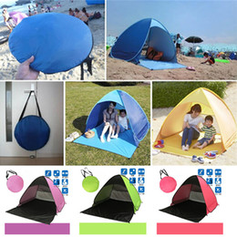 Wholesale Fedex Open - Quick Automatic Opening Hiking Camping Tents Outdoors Shelters 50+ UV Protection Tent for Beach Travel Lawn Home 10 PCS DHL Fedex Shipping
