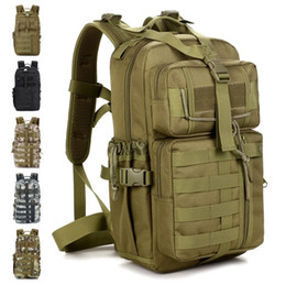 Wholesale Wholesale Police Bags - Outdoor Military Tactical Assault Camo Soldier Backpack Molle System 3 Day Life Saver Bug Out Bag Survival SWAT Police 5pcs Free DHL Fedex