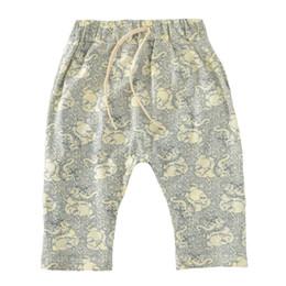 Wholesale Kid Girls Camouflage Shorts - Kids Baby Harem Pants 2017 Summer Camouflage Boys Girls Harem Shorts Cartoon Elephant Toddler Short Pant For Children Clothes Outfits
