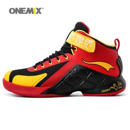 Wholesale nice 45 - ONEMIX Man Basketball Shoes For Men Nice Taxi Classic Athletic Basketball Boots Trainers Sports Shoe 2018 Mens Outdoor Walking Sneakers 45