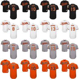 Wholesale Baltimore Orioles Jersey Xl Black - 2016 Men's Flexbase Baltimore Orioles #13 Manny Machado 8 Cal Ripken 10 Adam Jones 19 Chris Davis Jersey MLB Baseball Jerseys Stitched