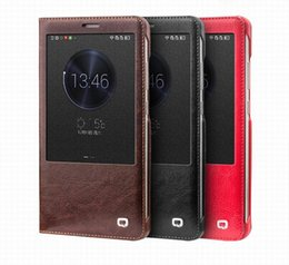 Wholesale Iphone Flip Up - C65-1039 Original Genuine Leather Flip Cover Case for Ascend Mate7 case Mate7 Smart View Sleep & Wake up function