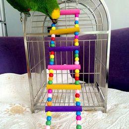 Wholesale Pet Birds Parrots - Small Birds Toy Pet Toys Perico Accessories Ladder Climbing Ladder Wooden Lifting Bridge Cockatoo Parrot Toys