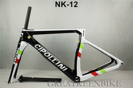 Wholesale Carbon Fiber Bike Frame 56cm - 2017 The top quality nk1k carbon road bike frame t1100 carbon fiber BSA bb30 CIPOLLINI road bike frameset