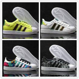 Wholesale Casual Female Fashion - 2017 adidas FREE SHIPPING Fashion men Casual shoes Superstar smith stan Female Flat Shoes Women Zapatillas Deportivas Mujer Lovers Sapatos