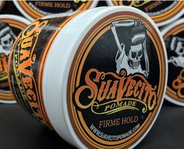 Wholesale Newest Sale Suavecito Pomade Strong style restoring Pomade wax big skeleton slicked back hair oil wax mud keep hair pomade men DHL Free ship