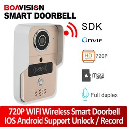 Wholesale Remote Unlock - 1.0MP Wifi Video Doorbell Outdoor Full Duplex Talk Wireless Door Phone Intercom Support Alarm Remote Unlock iPhone Android View
