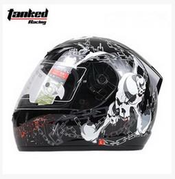 Wholesale Biker Motorcycle Helmets - Wholesale- Tanked Racing T112 off road skull shackles motorcycle Helmet MOTO full face dirt biker motorbike motocross safety helmets