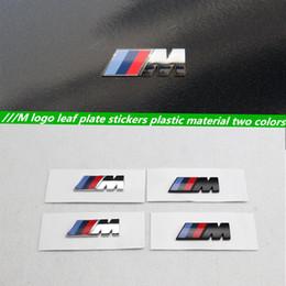 Wholesale Performance Car Stickers - 1pcs original quality car style Motorsport M performance Car side body sticker M Emblem for BMW E36 E39 E46 E90 E60 E30 F10 F30