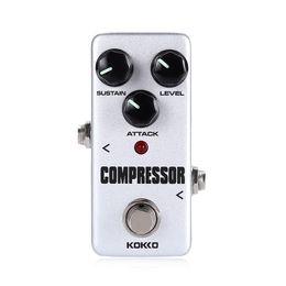 Wholesale Metal Compressor - mimi Compressor Guitar Effect Pedal Bass Compressor Effects Pedal Stompbox Balance dynamic steady output level True Bypass