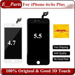 Cópia iphone on-line-(100% original) não china cópia lcd original + retroiluminação original + original lcd display lcd touch screen digitador para iphone 6 s 6 s além de