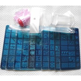 Wholesale X Stamp - Wholesale- 10 x Fashion DIY Nail Art Image Stamp Stamping Plates+ 2 Silicone Nail Stampers 3D Nail Art Templates Stencils Set ZH030