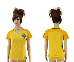 Wholesale National Soccer Team Uniform - 2016 brazil national team 2017 soccer jersey football uniform home away women jerseys woman shirt onsale shirts neymar jersey free shipping