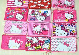 Wholesale Key Ring Strings - Wholesale- Kawaii 2015NEW 18*10CM PU Hello Kitty - Key Ring HOOK HAND Coin Purse Wallet Pouch Case BAG Women Handbag Pocket Holder BAG