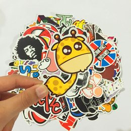 Wholesale Decal Laptop Sticker - 100pcs Stickers Skateboard Snowboard Vintage Vinyl Sticker Graffiti Laptop Luggage Car Bike Bicycle Decals mix Lot Random Hot Stickerbombing