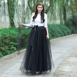 e5f5764ab China Fashion Casual Ankle Length Tulle Skirt With Belt Custom Made High  Quality Elastic Waist Skirts