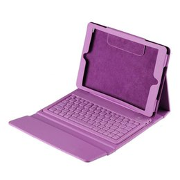 Wholesale Iphone Wireless Keyboard Case - Free DHL Bluetooth Wireless Keyboard Leather Case Cover with Stand Holder for iPad Mini 1 2 3 4 iPad 2 3 4 Air Pro