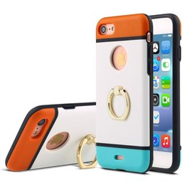 Wholesale Case S4 Protection - For iPhone 6 6s 7 plus Samsung s4 s5 note 3 note 4 Case Ultra thin Back Cover PC TPU Case Protection For Iphone Cases With Ring