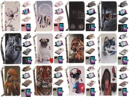 Wholesale Tiger Leather Case - Wolf Owl Tiger Lion Dog Monkey Painted Cover PU Leather Wallet Card slot Stand Case For Samsung Galaxy J3 2016 J310