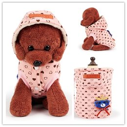 Wholesale Yarn Dogs - Winter Pet Clothes Dog Cotton Clothes Puppy Woolen Yarn Bear Coat Winter Dog Outerwears Plus Size 4 Styles CYF73