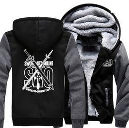 3e10bd49cbd1 Großhandels-Anime verdicken Hoodie Mantel Schwert Art Online SAO Cosplay  Jacke Sweatshirts Nizza Top Kleidung Männer Frauen
