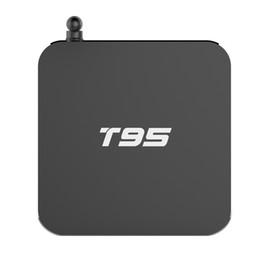 Wholesale Internet Media - T95 Android TV Box S905X 1G 2G RAM 8G ROM Android 6.0 KDMC 17.1 Quad Core Smart Boxes Full Load HDMI 2.0 Internet 4K Media Box