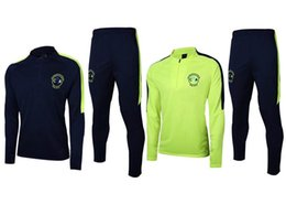 Wholesale Waterproof Sweaters - 2017 Club America tracksuit 17 18 top quality Survetement soccer Training Suits Mexico liga football sweater tops pants