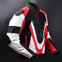 Wholesale Motorcycle Jackets Oxford - DNS Motorcycle Racing Men's Hump Oxford PU Leather Jacket Suit Riding Clothes Drop Resistance Sports Off-road Outdoor Windproof Coat
