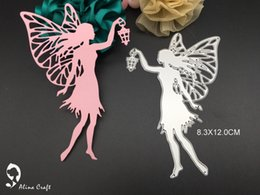 Wholesale Cut Lamp - meta cutting dies steel embossing stencils knife template for DIY scrapbook album paper craft light fly fairy with lamp