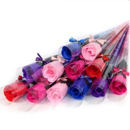Sabão rosa pétala casamento favores on-line-Sabonetes de flores Corpo de Banho Rose Petal Wedding Favors Presentes de Aniversário Decoração de Casa 5 Cores Flor Soap Rose Frete Grátis