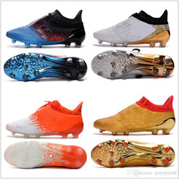 Wholesale Football Boots Free Shipping - 2017 Discount Wholesale X 16+ Purechaos FG AG Football Shoes Men Soccer Cleats Fashion Soccer Shoes Discount Soccer Boots Free Drop Shipping
