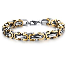 Wholesale Bicycle Link Bracelet - Wholesale- 5mm Classic Design Punk 316L Stainless Steel Bracelet Special Biker Bicycle Motorcycle Chain For Mens Bracelets & Bangles