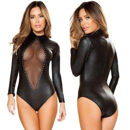 Wholesale Spandex Pvc - Sexy EXOTIC PVC Lingerie Fetish Stripper Clubwear nightwear Babydoll Playsuit X38 M-XL