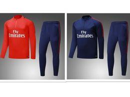 Wholesale Blue Paris - 2017 2018 NEYMAR JR DI MARIA CAVANI Paris training suit soccer Jerseys kit 17 18 VERRATT paris football jacket tracksuit set