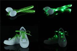 Wholesale Shoe Home Decor - New Creative LED Shoelaces Nylon Shoe Laces Flash Light Up Glow Stick Strap Shoelaces Disco Party Shoes Decor
