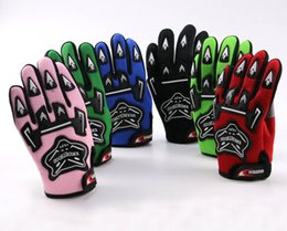 Wholesale Motorcycle Kids Bike - Wholesale- Guantes Motorcycle Racing Gloves For YOUTH PEEWEE Kids Motocross Bicycle Dirt Pit Bike Poceket Bike Motorbike ATV QUAD
