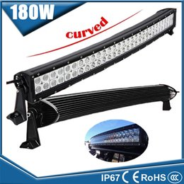 Wholesale Led Roof Light Bar - 32'' 180W Curved LED Light Bar Spot 30° Flood 60°Combo Off-road Work Light Fog Roof Driving Lamp for 4X4 SUV Truck Boat Jeep Tractor Trailer