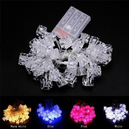 decorazioni del partito di ghiaccio Sconti Stringa di batterie 4M 40 LED Ice Block Luce natalizia String Outdoor Fairy Lights Impermeabile Per la decorazione di nozze del partito
