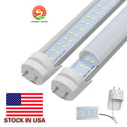 Wholesale Row Cree - Stock in US LED T8 Tubes 4FT 28W 2900LM CREE SMD2835 G13 192LEDS 1.2m Double row AC 85-265V led fluorescent lighting