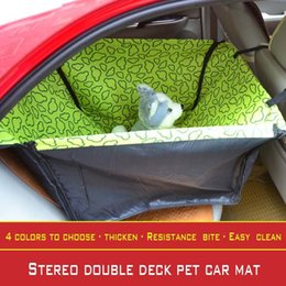 Wholesale Deck Pads - 2017 New print design waterproof Oxford cloth collapsible double-deck pets car mat cat and dog outdoor travel essential